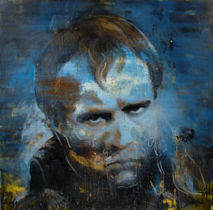 Tony Scherman - Brando as Napoleon, from the series The Junkies, 2003–2005. Encaustic on canvas. Winnipeg Art Gallery, Gift of the artist. 2009-131.