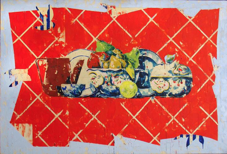 Tony Scherman - Untitled, 1980. Encaustic on canvas. Winnipeg Art Gallery, Gift of the artist. 2009-125.