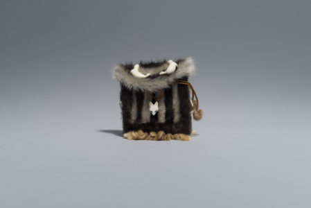 Qaunaq Mikkigak. Untitled, 1976. nylon, ivory, leather (sealskin), stone. Government of Nunavut Fine Art Collection, On long-term loan to the Winnipeg Art Gallery, 2.77.16.
