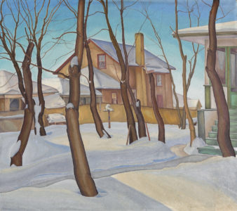 Lionel LeMoine FitzGerald. Doc Snyder's House, 1931. oil on canvas, 74.9 x 85.1 cm. National Gallery of Canada, Ottawa. Gift of P.D. Ross, Ottawa, 1932. L2019.2.22.