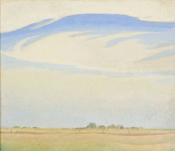 Lionel LeMoine FitzGerald. The Prairie, 1929. oil on canvas, 28.7 x 33.6 cm. Collection of the Winnipeg Art Gallery; Gift from the Estate of Arnold O. Brigden. G-73-332.