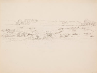 Lionel LeMoine FitzGerald. Study for Summer Afternoon, The Prairie, 1921. graphite on paper, 21.3 x 27.7 cm. Collection of the Winnipeg Art Gallery; Acquired with funds from The Winnipeg Foundation, G-90-540.