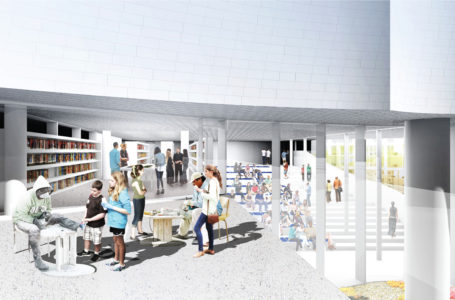 Library, Inuit Art Centre. Michael Maltzan Architecture.