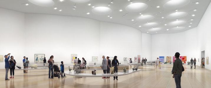 Gallery space, Inuit Art Centre. Michael Maltzan Architecture.