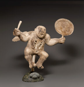 Charlie Ugyuk (Canadian (Taloyoak), 1931–1998).Winged Shaman Drum Dancer, 1990.whale bone, antler, stone,67 x 65 x 39 cm.Collection of the Winnipeg Art Gallery. Acquired with the assistance of the Winnipeg Rh Foundation Inc., G-96-1 a-g.Photo: Ernest Mayer