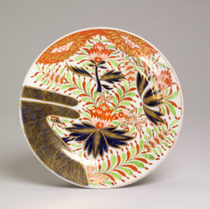 Chamberlain's Worcester (English, 19th century).Plate, c. 1805–c. 1810.soft-paste porcelain,2.8 x 21.5 cm.Collection of the Winnipeg Art Gallery; The Ruby Ashdown Collection of Decorative Art, 2009-164.Photo: Ernest Mayer