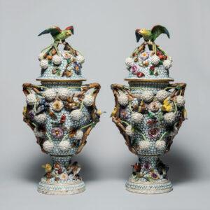 Meissen (German).Modeller: Johann Joachim Kändler, German, 1706–1775.Schneeballen urn, 18th century.porcelain,80.4 cm. Collection of the Winnipeg Art Gallery; Gift of the Honourable Douglas D. Everett and Family, 2017-560.1 to 4.Photo: Ernest Mayer