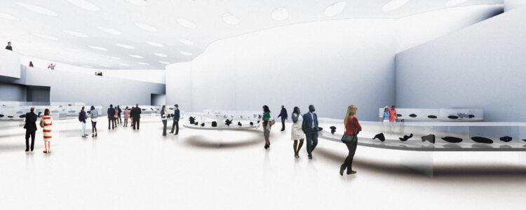 Qilak Inuit Gallery Panorama Rendering Michael Maltzan Architecture